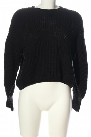Pretty Body Szydełkowany sweter czarny W stylu casual