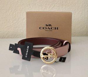 Coach Cinturón de cuero multicolor