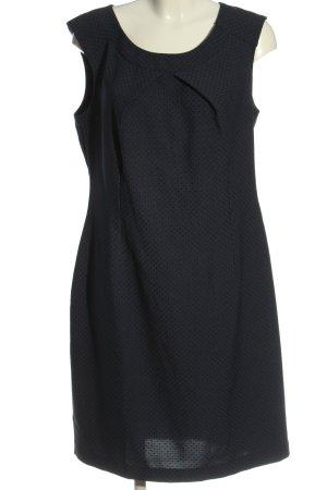 Pretty Girl Minikleid blau-schwarz Allover-Druck Business-Look