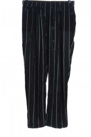 Pretty Little Thing Baggy Pants black-white striped pattern casual look
