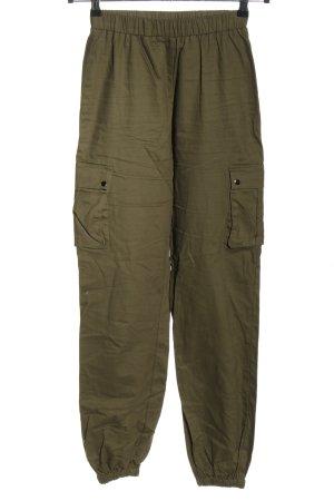 Pretty Little Thing Pantalon cargo kaki style décontracté