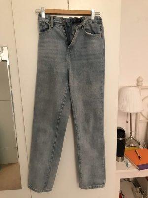 Pretty Little Thing Jeans boyfriend bleu azur