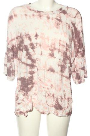 Pretty Little Thing Camisa holgada blanco-rosa estampado con diseño abstracto