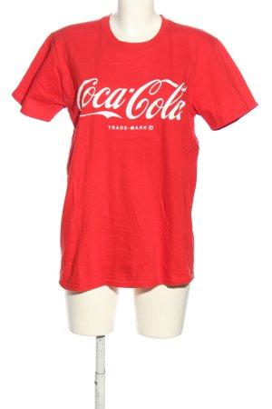 Pretty Little Thing T-Shirt rot Schriftzug gedruckt Casual-Look