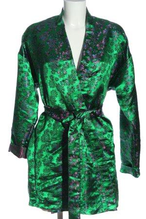 Pretty Little Thing Kimono verde-rosa motivo astratto stile casual