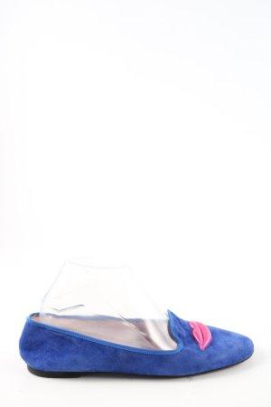 Pretty Loafers Babouche bleu style décontracté