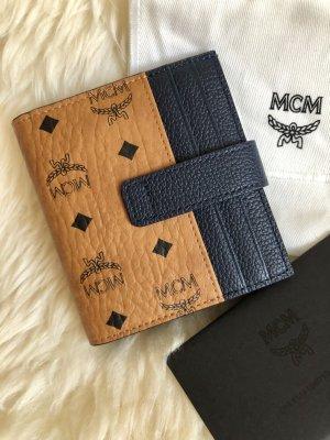MCM Wallet cognac-coloured-dark blue