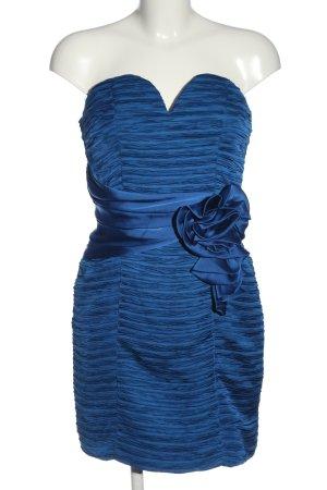 Pretty women Vestido strapless azul elegante
