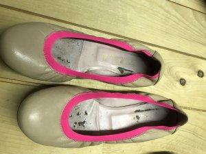 Pretty ballerinas Ballerina di pelle verniciata color carne-rosa