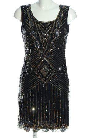 PrettyGuide Jurk met pailletten zwart-bruin elegant