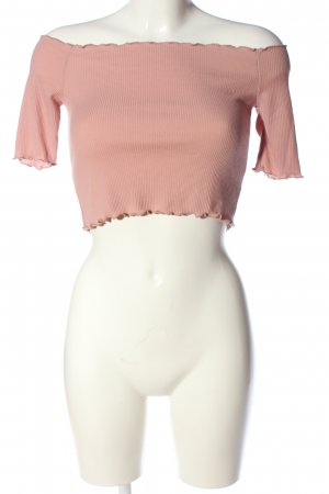 PrettyLittleThing Carmen-Bluse pink Casual-Look