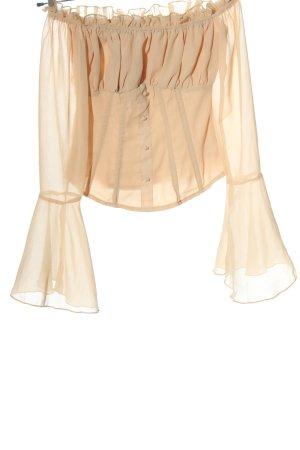 PrettyLittleThing Carmen-Bluse nude Elegant