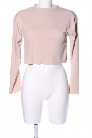 PrettyLittleThing Cropped Shirt creme Casual-Look