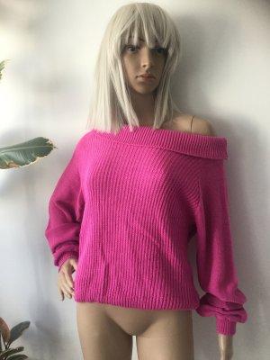 Prettylittlething Damen Schulterfrei Leichter Pullover Gr.S