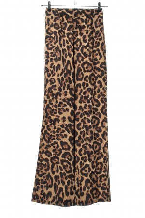 PrettyLittleThing Hoge taille broek bruin-zwart volledige print