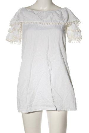 PrettyLittleThing Kurzarm-Bluse weiß Elegant