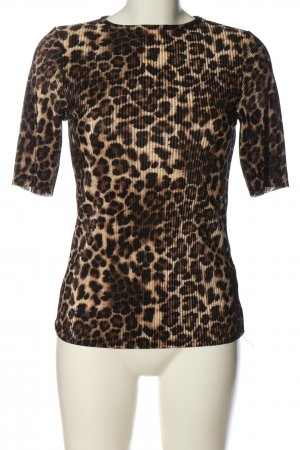 PrettyLittleThing Kurzarm-Bluse Animalmuster Casual-Look