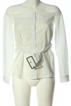 PrettyLittleThing Langarm-Bluse weiß Casual-Look