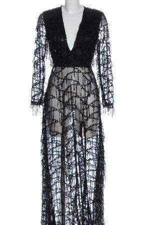 PrettyLittleThing Maxikleid schwarz extravaganter Stil