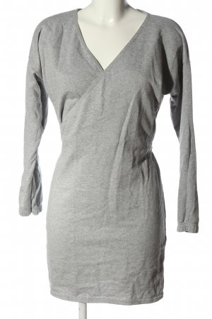 PrettyLittleThing Sweat Dress light grey flecked casual look