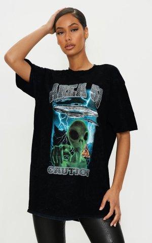 Prettylittlething Tshirt Alien oversize