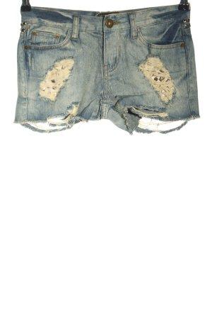 Prey of London Denim Shorts blue casual look