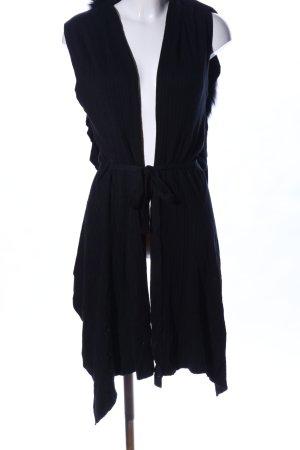 Preziosa Cardigan lungo smanicato nero stile casual