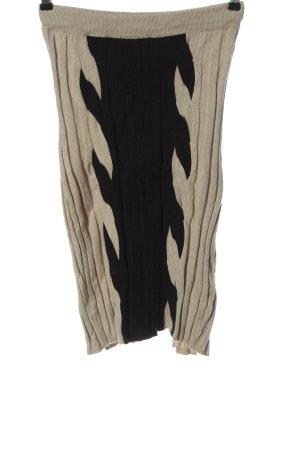 Preziosa Jupe tricotée crème-noir style décontracté