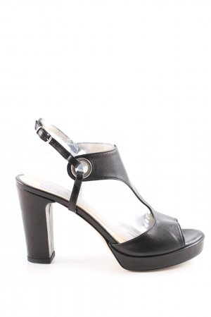 Preziosa T-Steg-Pumps schwarz Business-Look