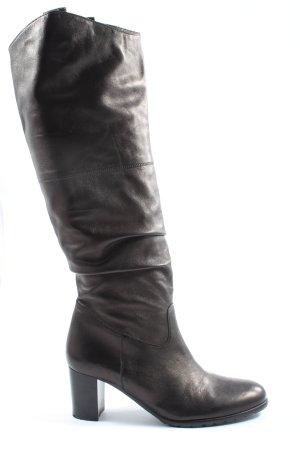 prialpas gomma Wysokie buty na obcasie brązowy W stylu casual