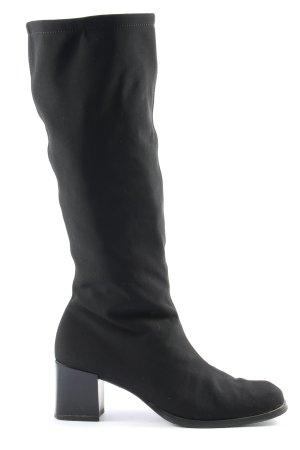 prialpas gomma Bottes à tige large noir style décontracté