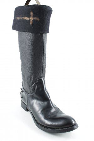 Primabase Gothic Boots black Metal elements