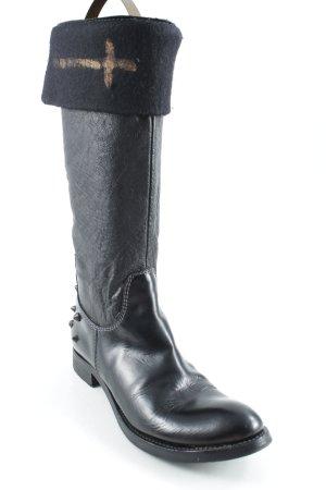 Primabase Gotyckie buty czarny Metalowe elementy