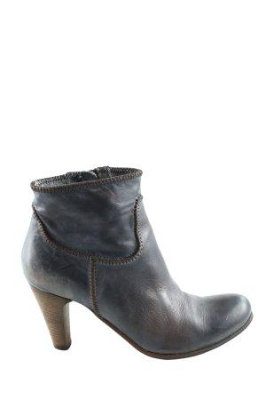 Primabase Reißverschluss-Stiefeletten schwarz-braun Farbverlauf Casual-Look
