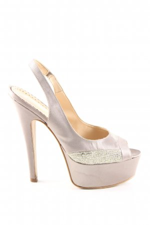 primadonna High Heels cream-gold-colored extravagant style