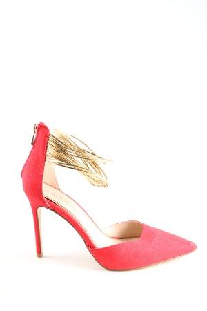 primadonna Spitz-Pumps pink-goldfarben Elegant