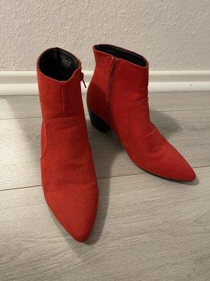 Primark Krótkie buty czarny-czerwony