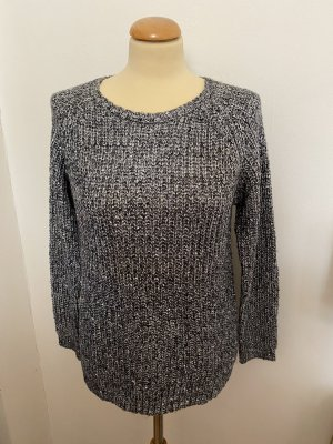 Atmosphere Coarse Knitted Sweater silver-colored-dark grey
