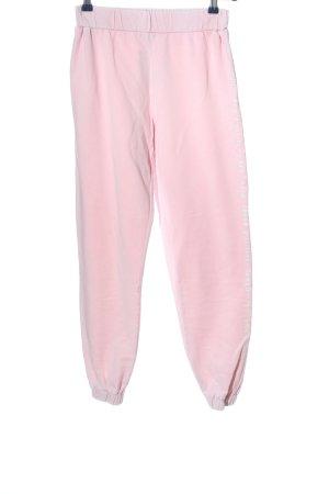Primark Baggy Pants pink printed lettering casual look