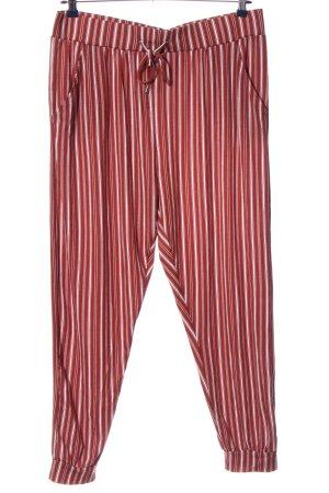 Primark Baggy Pants weiß-rot Streifenmuster Casual-Look
