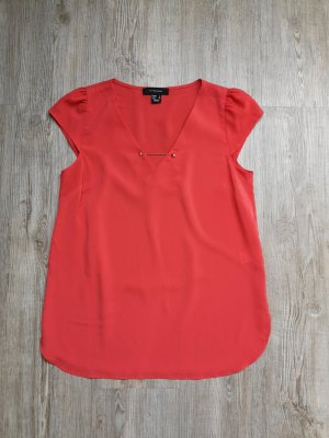 Primark Bluse Shirt T-Shirt Koralle Lachs rot 36 gold