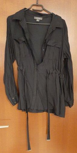 Primark Bluse Tunika Blusenshirt Shirt tailliert Brusttaschen Gürtel Bindeband