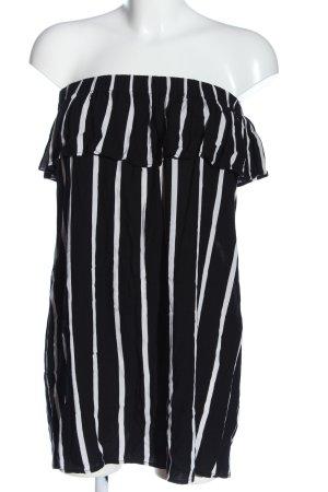 Primark Carmen-Bluse schwarz-weiß Streifenmuster Casual-Look