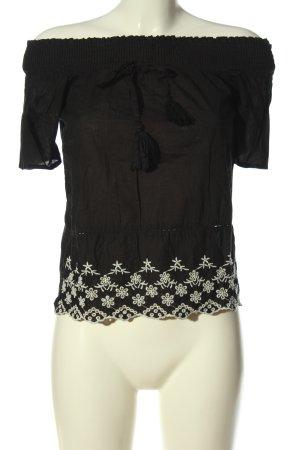 Primark Carmen shirt zwart-wit elegant