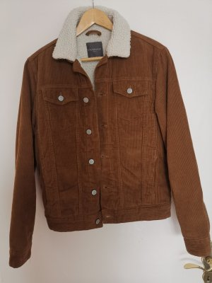 Primark Cord Jacket bronze-colored mixture fibre