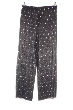 Primark Culottes schwarz-weiß Punktemuster Casual-Look