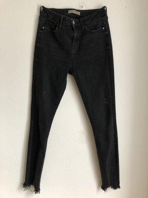 Primark Denim Co Damen Hose Jeans Skinnyjeans Röhrenjeans Schwarz