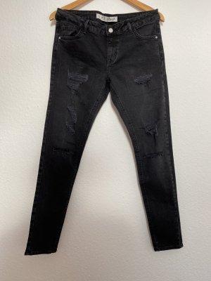 Primark Denim Co Damen Jeans Skinnyjeans Röhrenjeans Used Look