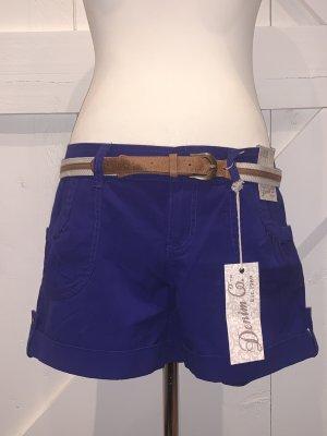 Primark Denim Co. Kurze Cargo-Shorts, Gr. 42, lila Neu