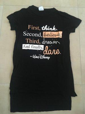 Primark Disney Longshirt T-Shirt Größe 38 schwarz weiß roségold Zitat